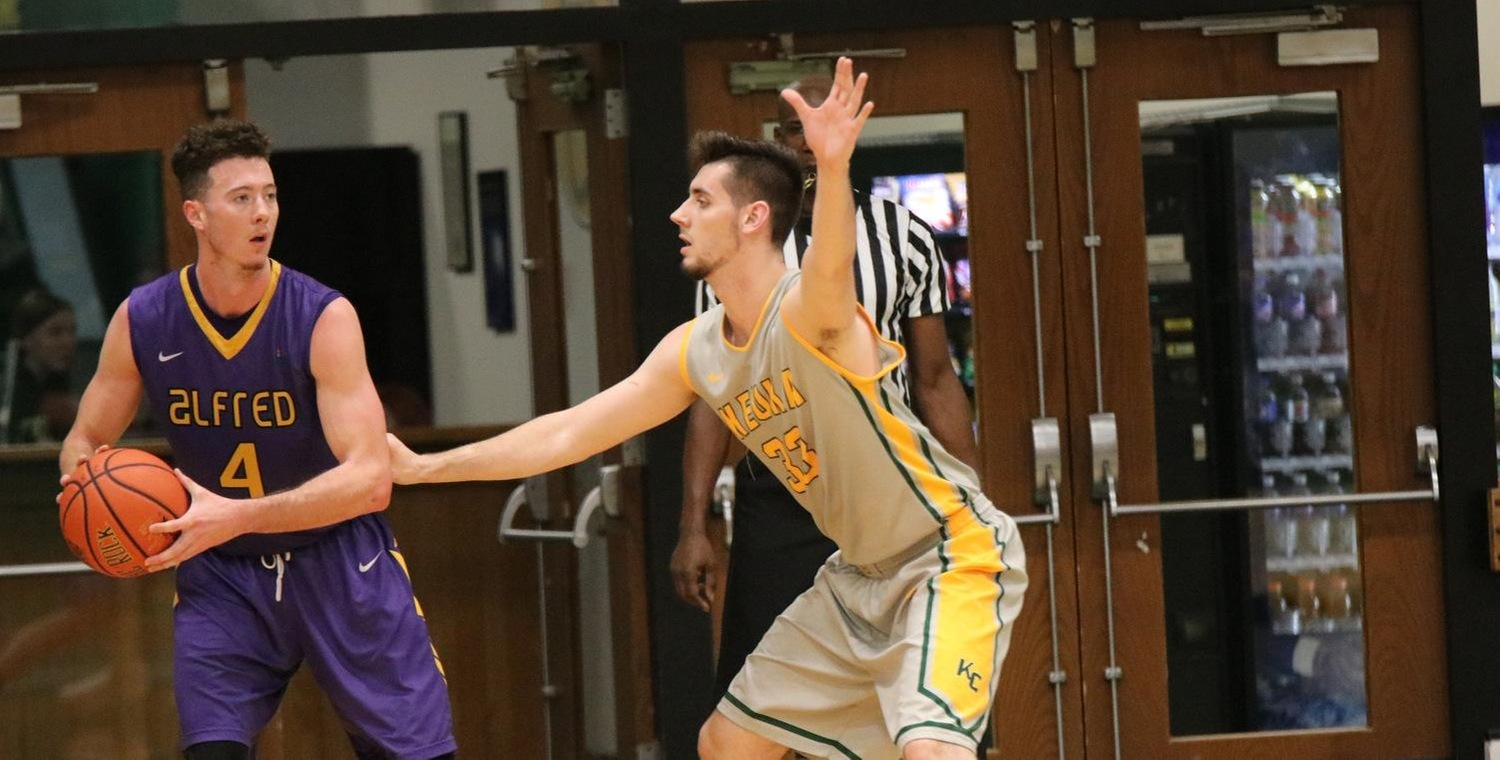 Ryder Mansfield (33) had 14 points and seven rebounds for Keuka College at Alfred on Tuesday
