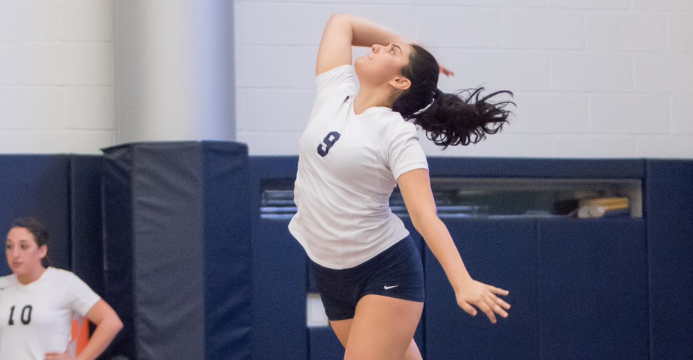 Women's Volleyball Levels Record With Balanced Attack in Straight-Set Win over Medgar Evers