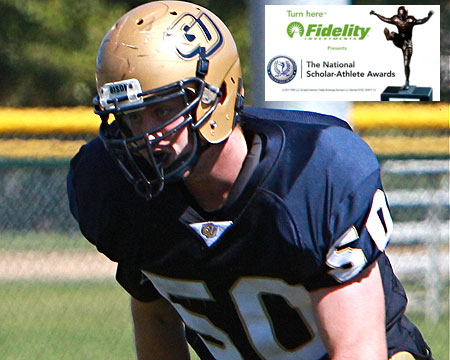 Gallaudet offensive lineman Caleb Hinton selected as NFF candidate for the NFF National Scholar-Athlete Awards