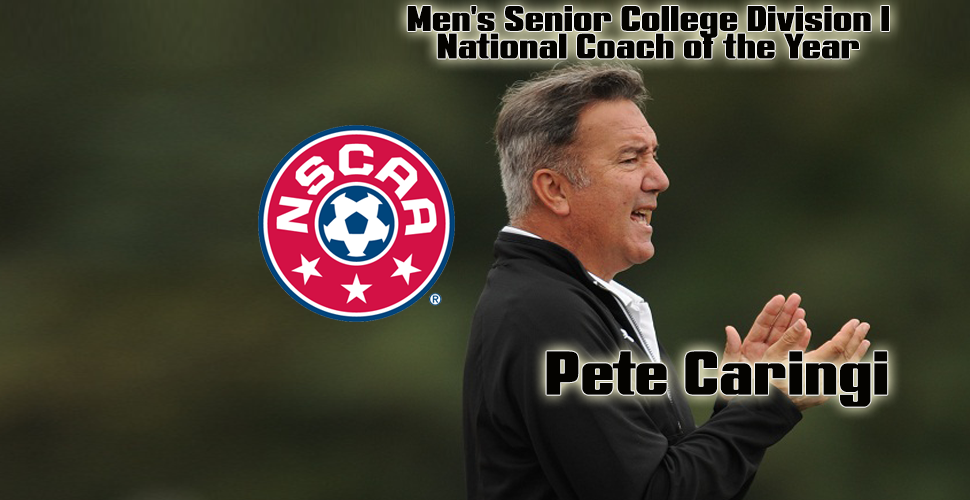 Pete Caringi Named National Coach of the Year by NSCAA