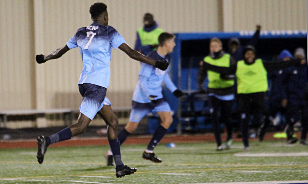 Epic second half comeback powers men's soccer into OCAA Championship Game