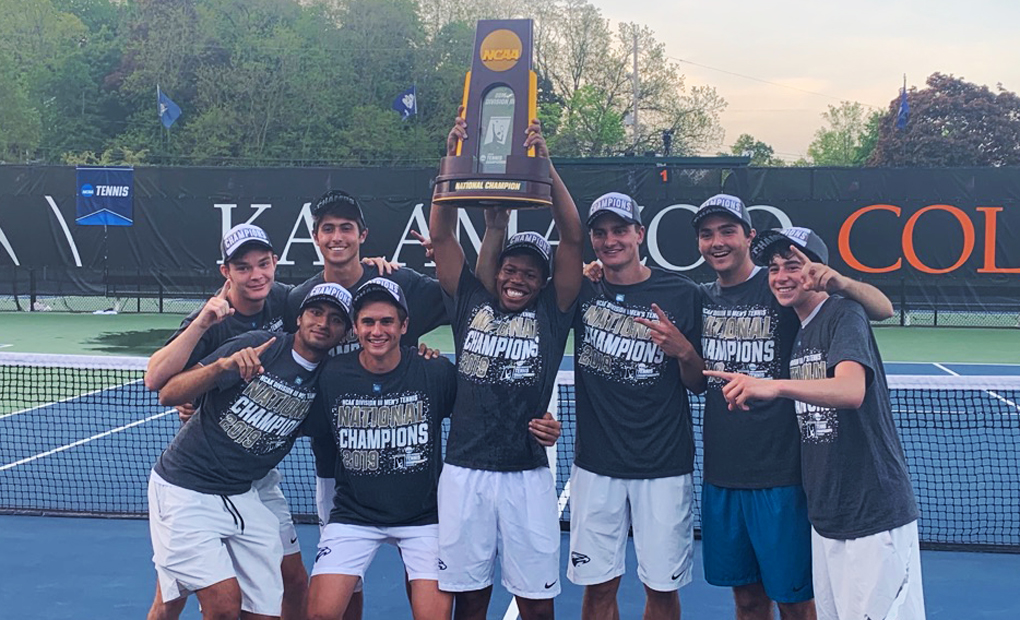 NATIONAL CHAMPIONS!! -- Emory Men's Tennis Tops No. 1 CMS In NCAA D-III Championship Match