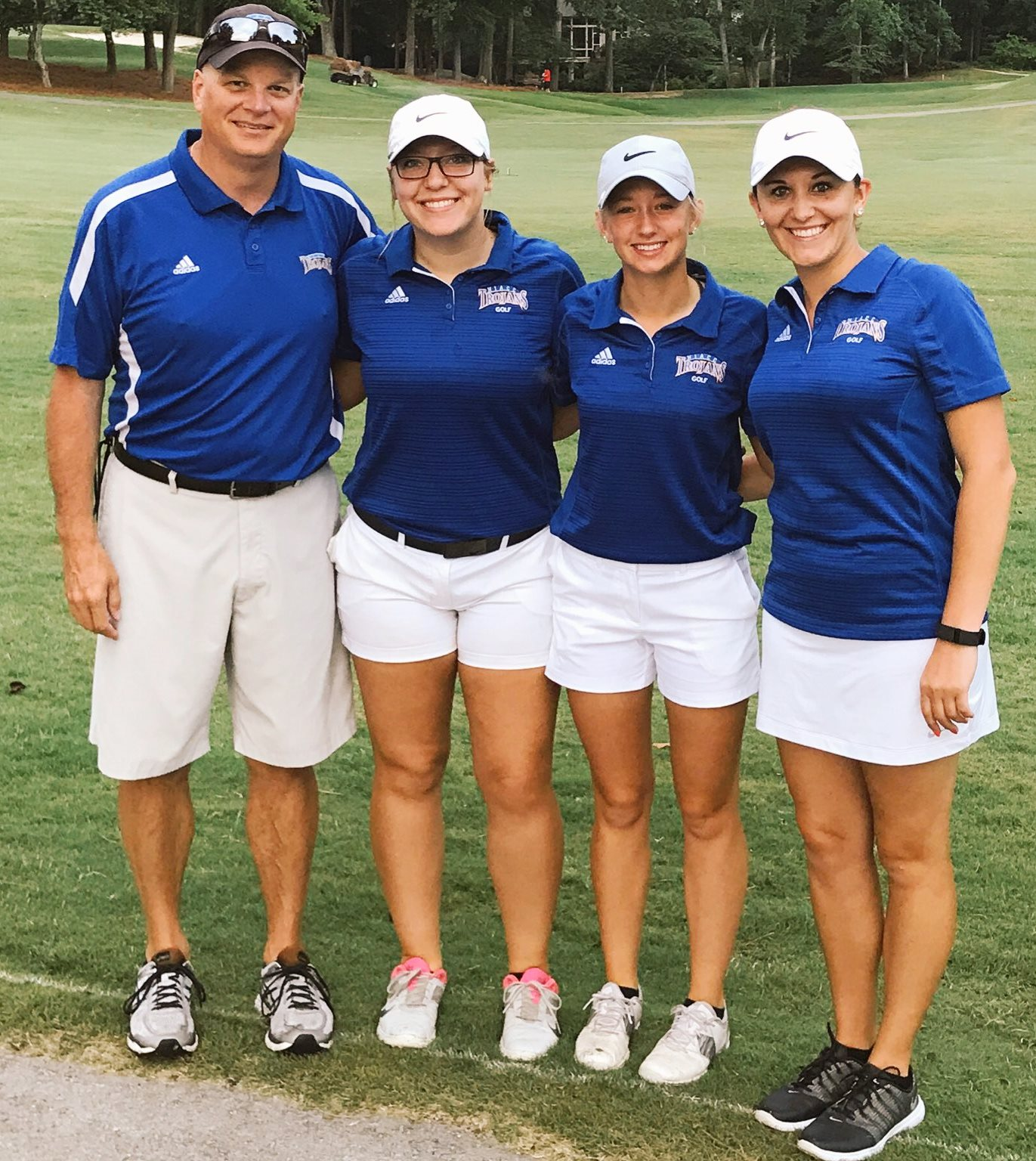 NIACC's Chris Frenz (head coach), Brooke Maasch, Courtney Tusler and Alexandria Eckenrod (assistant coach).