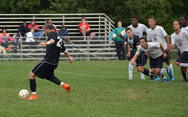 Lance Berry Buries Late Penalty Kick to Carry Wilmington Men's Soccer, 1-0, at Holy Family