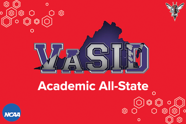 Red background with VaSID logo and text: Academic All-State