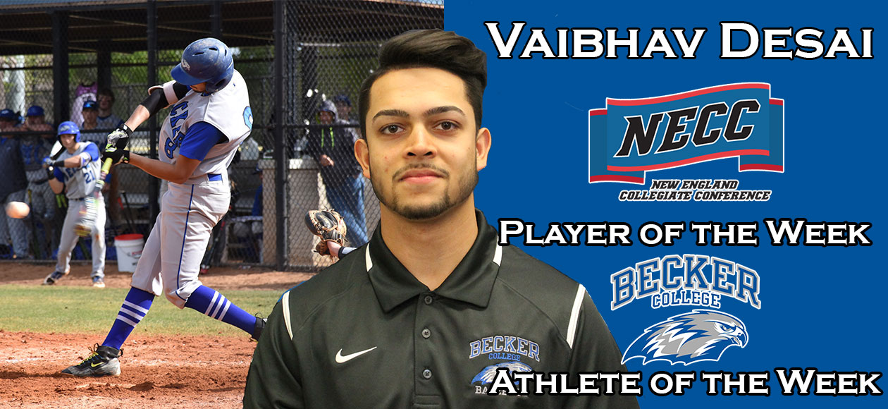 Baseball: Desai named NECC Player of the Week