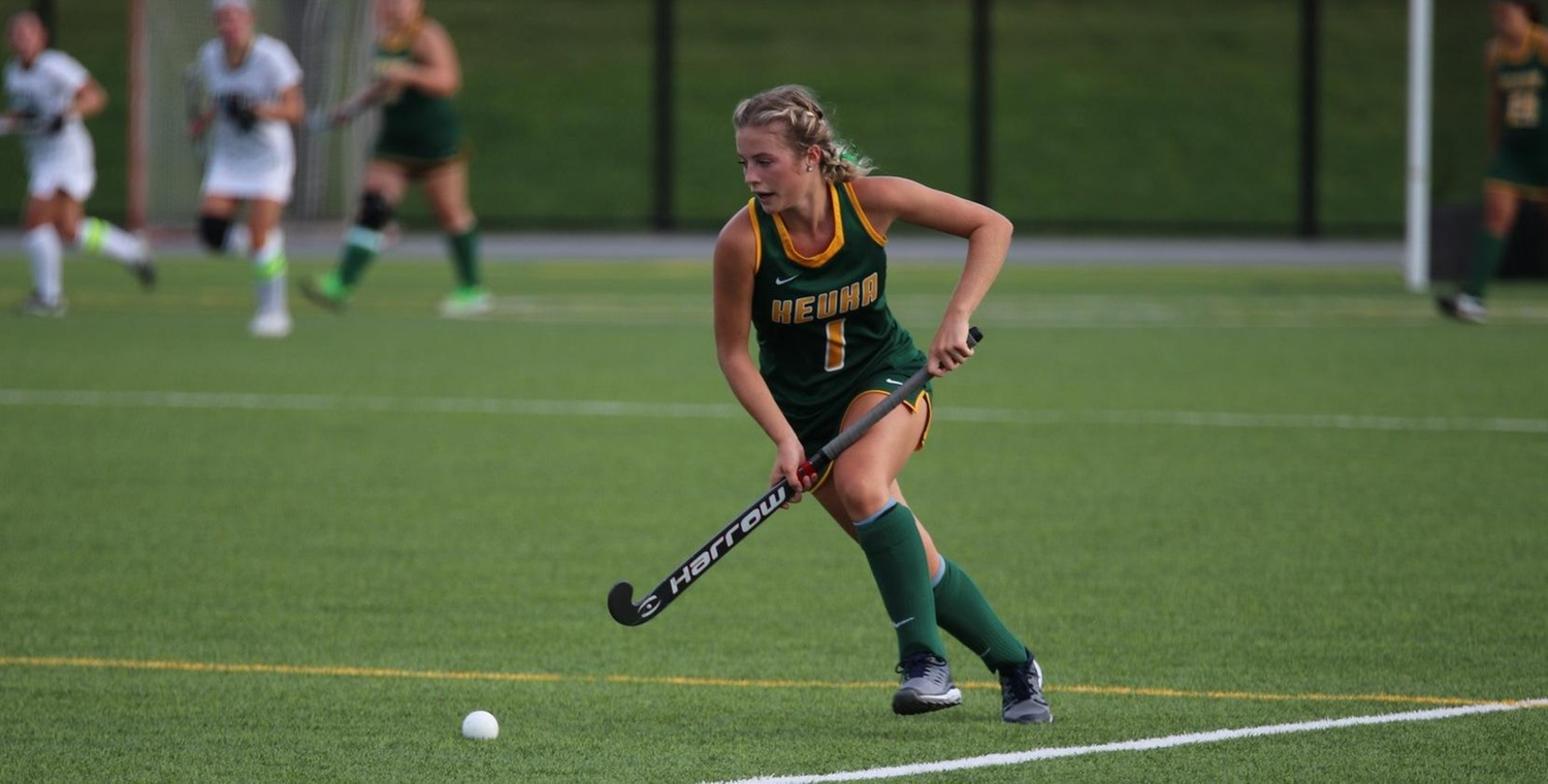 Nicole Wilson (1) scored three goals as Keuka College clinched the NEAC Regular Season Championship