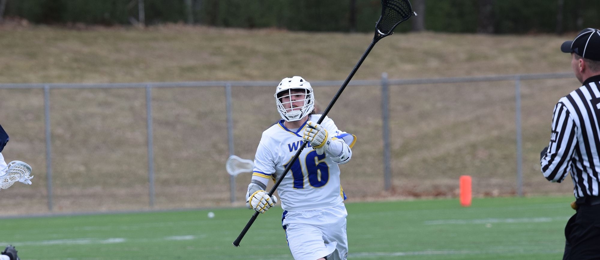 Freshman Mitch Weiss recorded a team-high six ground balls in Western New England's 8-7 loss to Clark on Saturday. (Photo by Courtney Carlson)