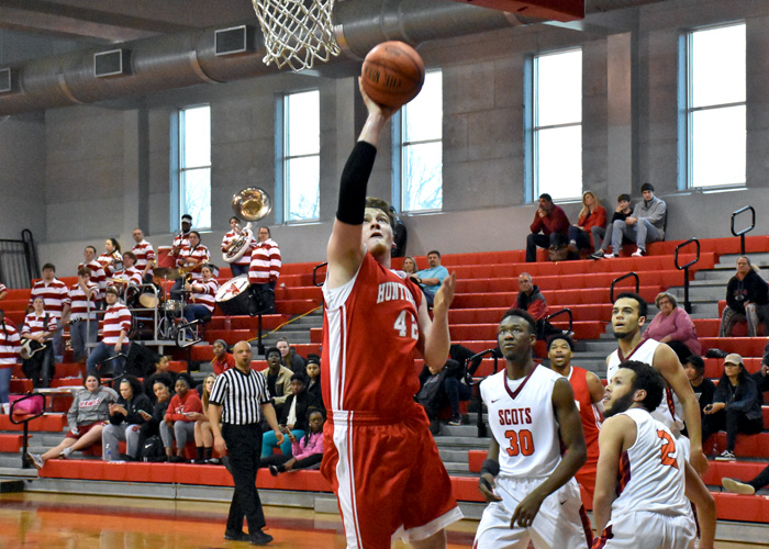 Sophomore Brett Mitchell had six rebounds and eight points in Sunday's loss to Covenant. (Photo by Wesley Lyle)