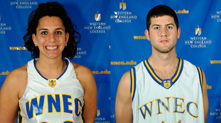 Taryn Belowsky and Chris Devine honored as Western New England College Athletes-of-the-Week