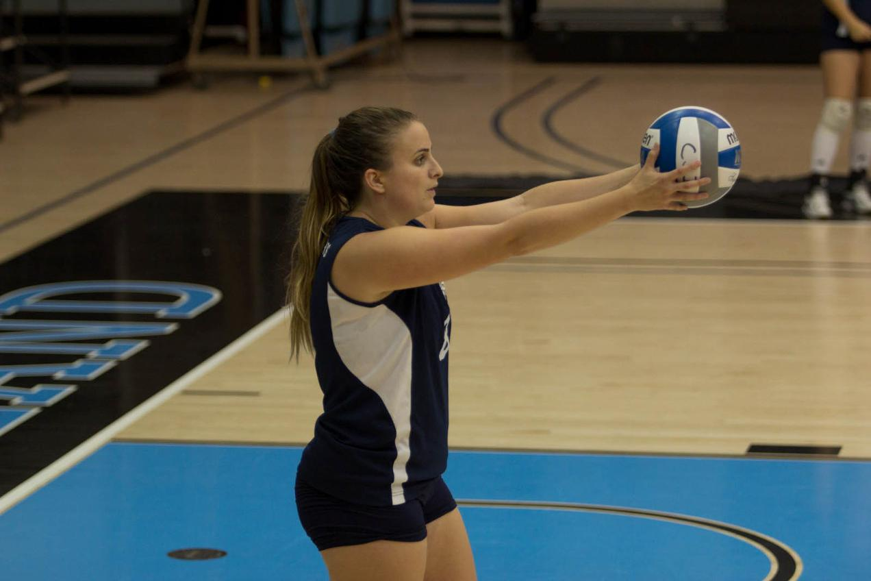 Women's Volleyball Tripped Up in Bay State