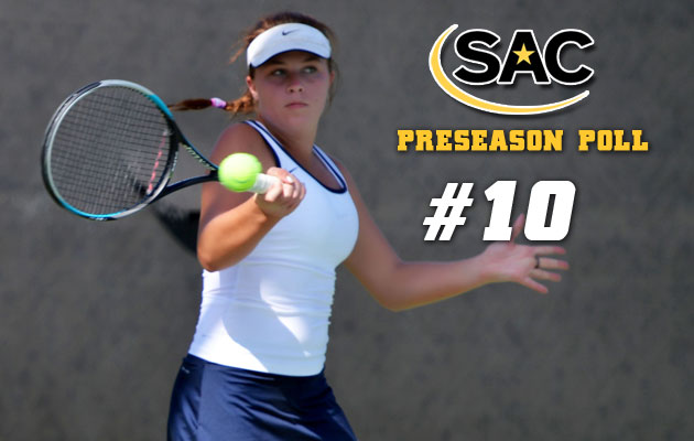 Women's Tennis Selected Tenth in Preseason Poll