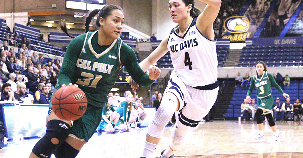 UC Davis Stays in First Place in Big West with 85-77 Win Over Cal Poly
