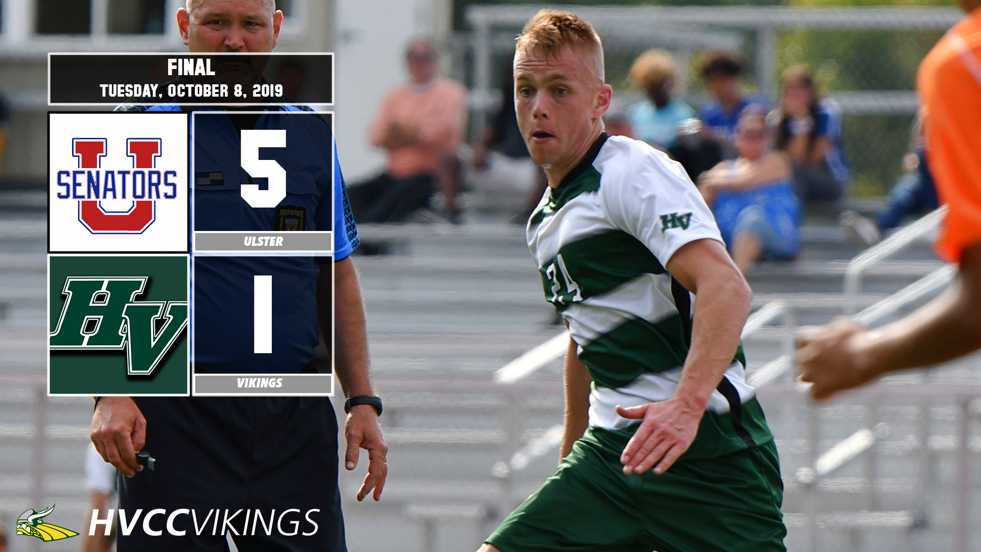 Ulster defeated Men's Soccer 5-1 on Oct. 8, 2019.