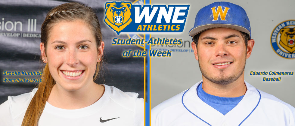 Brooke Kumnick & Eduardo Colmenares Named WNE Spring Break Student-Athletes of the Week