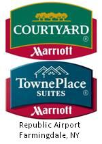 Courtyard by Marriott/TownePlace Suites by Marriott logo. Republic Airport - Farmingdale, NY