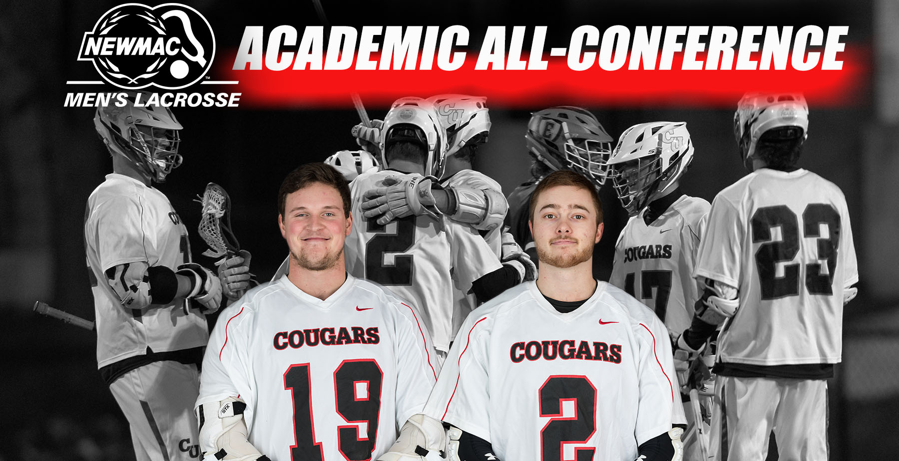 King, Pierce Named to 2019 Men's Lacrosse NEWMAC Academic All-Conference Team