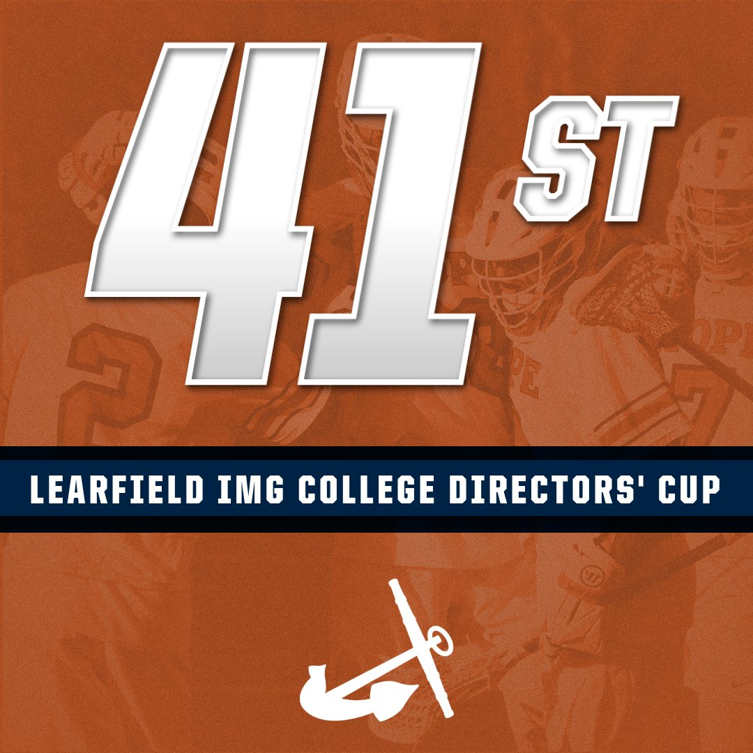Graphic displaying Hope's place of 41st in final Directors' Cup standings