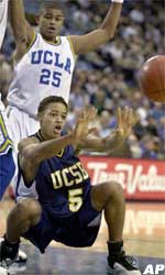 Men's Basketball Plays UCLA Down To Wire, Losing 83-77