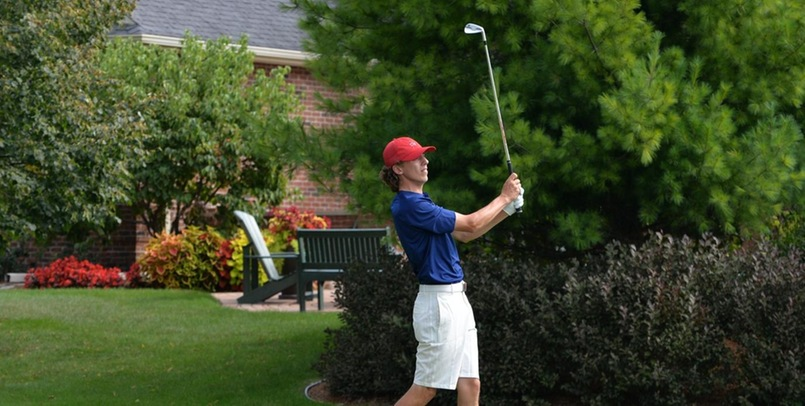 Men's Golf 13th after 18 holes at Motor City Invitational
