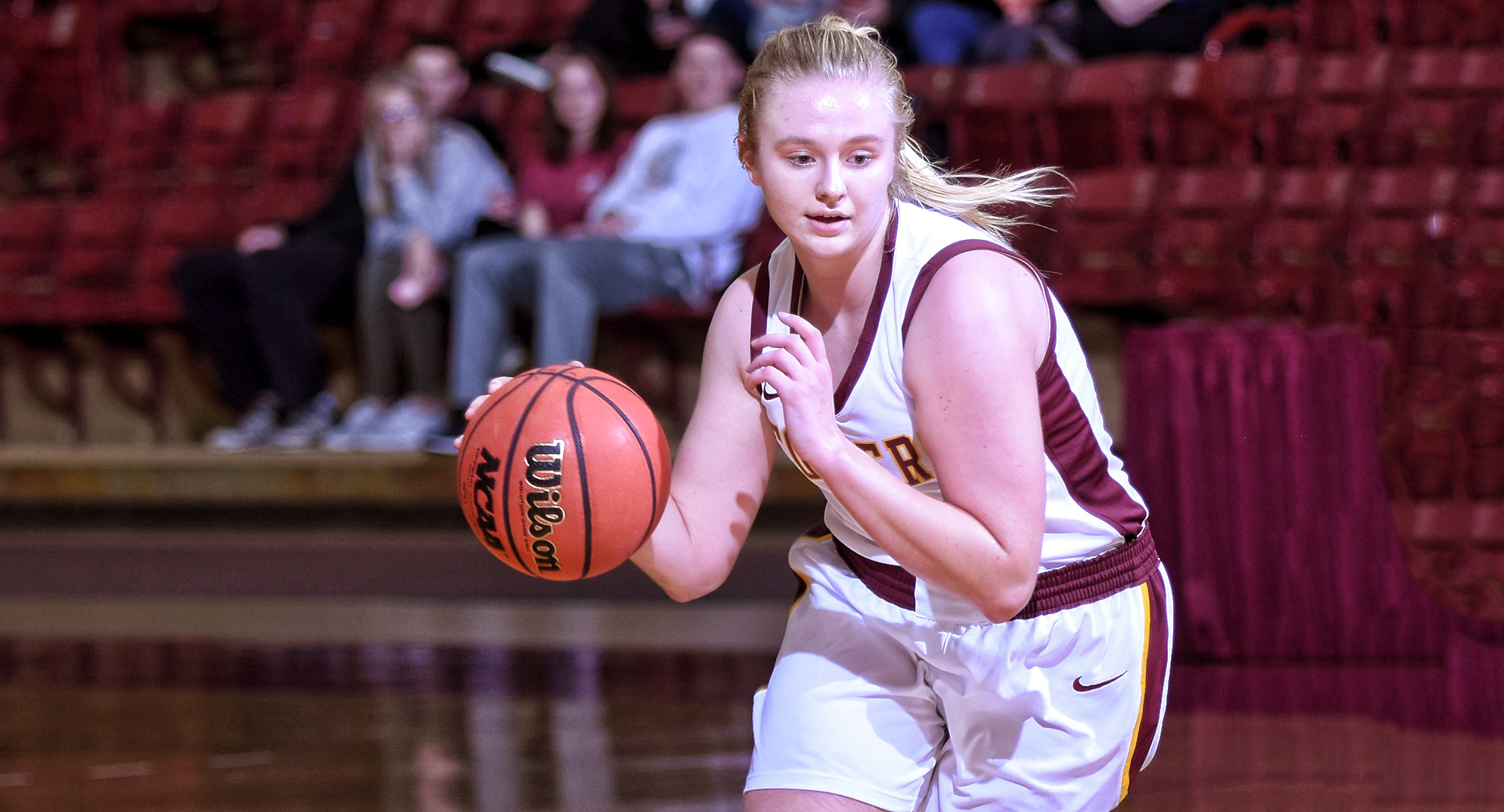 Sophomore Bailee Larson went 4-for-9 from the floor and scored a career-high 12 points to go along with six rebounds in the Cobbers' game at St. Benedict.