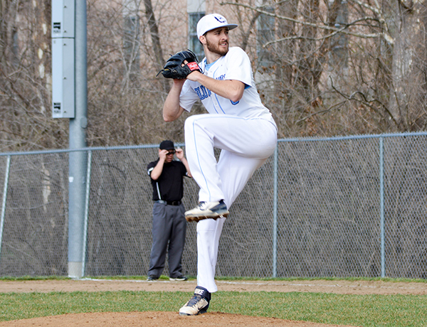 Hughes Makes New Mark on Two Pitching Records in MacMurray Sweep