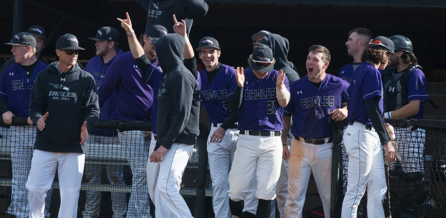 The Eagles completed a sweep against UMHB.