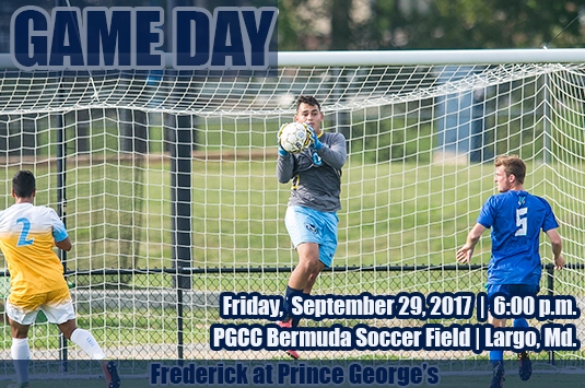 Prince George's Men's Soccer Returns Home To Host Frederick On Friday Evening