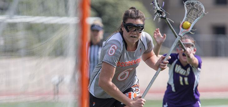 Oxy Women's Lacrosse Wins at CMS, Improves to 5-0