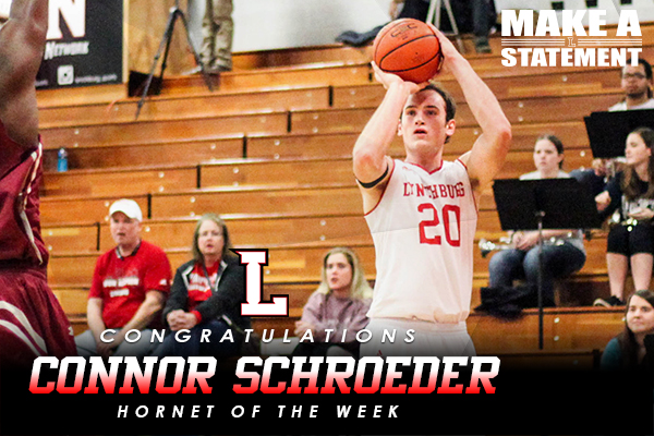 Hornet of the Week: Connor Schroeder (2/7-2/14)
