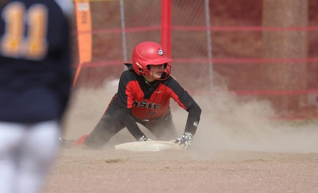Softball Pitches, Steals Way to Split at BenU