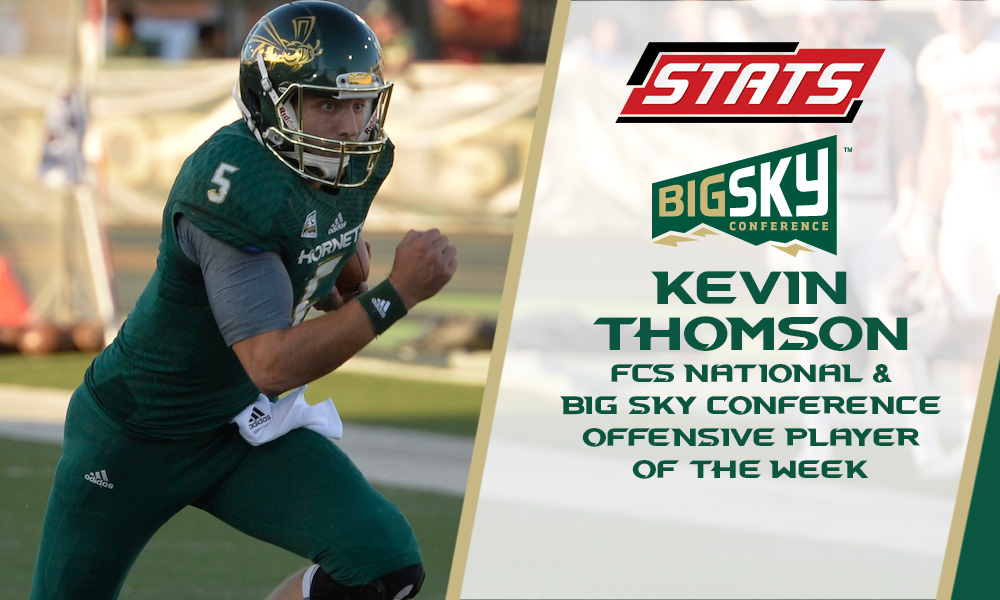 THOMSON NAMED FCS NATIONAL AND BIG SKY OFFENSIVE PLAYER OF THE WEEK