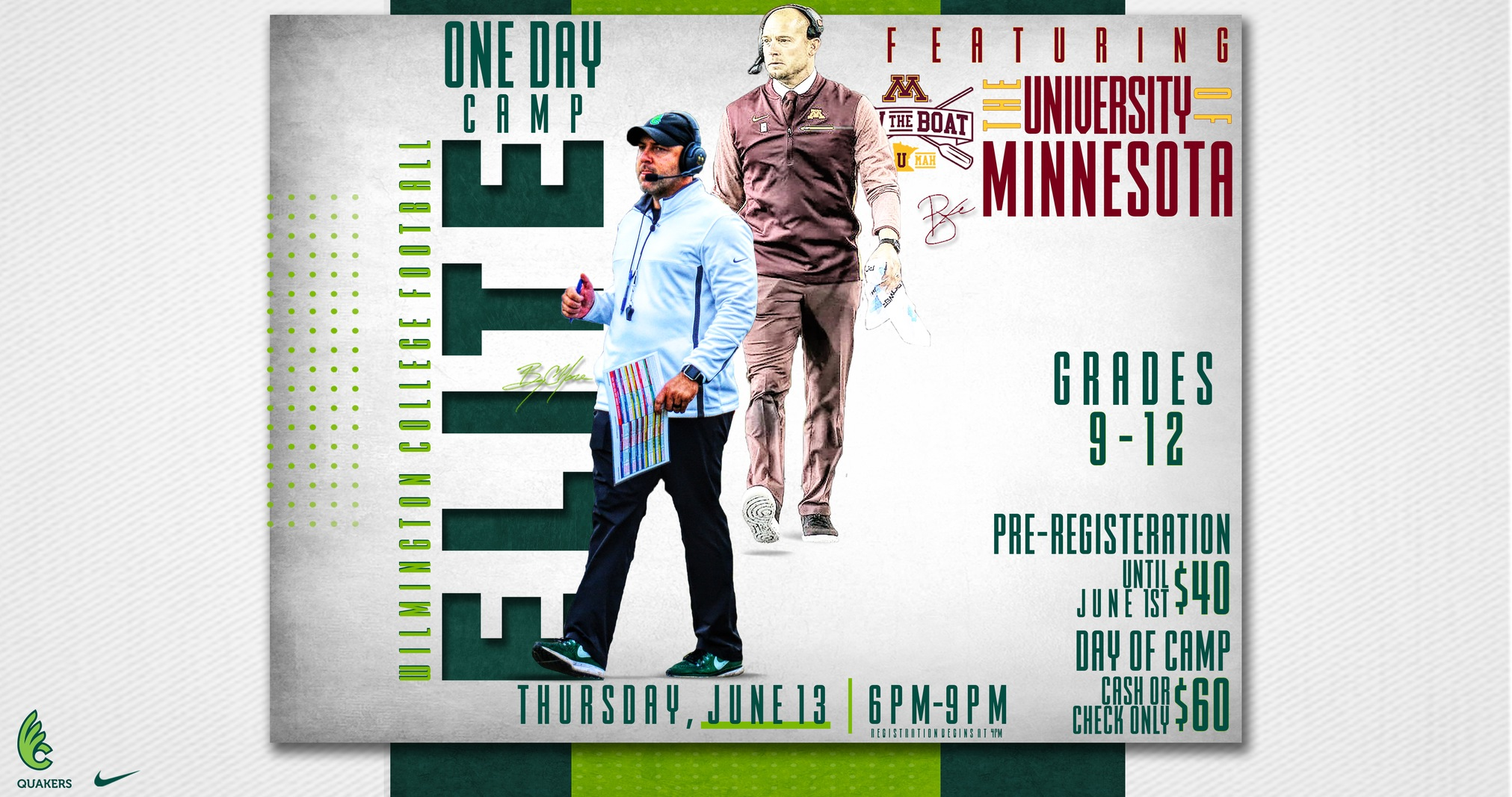 Football Hosting One-Day Elite Camp Featuring Minnesota for Second Consecutive Year