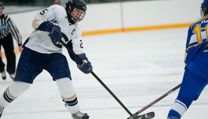 Women's Hockey Loses in Overtime to Ranked Pointers