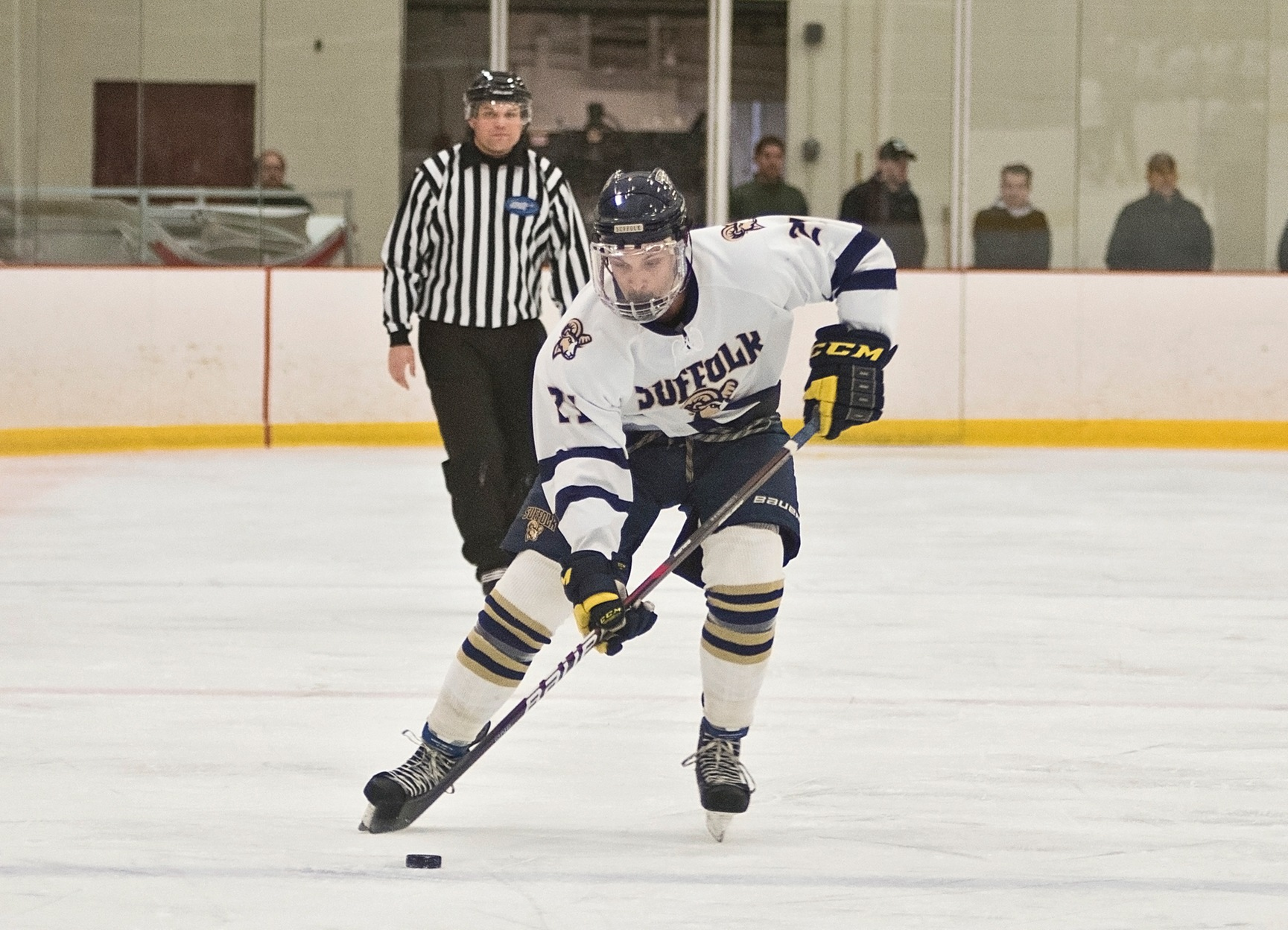 Men's Hockey Secures CCC Point in 3-3 Tie with JWU