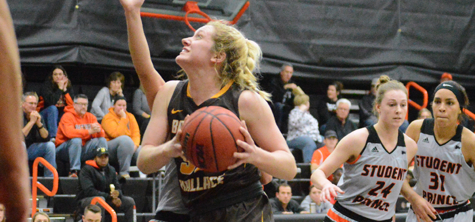 Freshman forward Lilly Edwards recorded the third double-double of her career in BW's 74-64 win over Heidelberg (Photo courtesy of Hailey Owens)