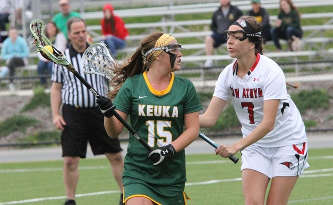 Morgan Bruno (15) scored a career-high 6 goals on Senior Day for Keuka College - Photo by Ed Webber