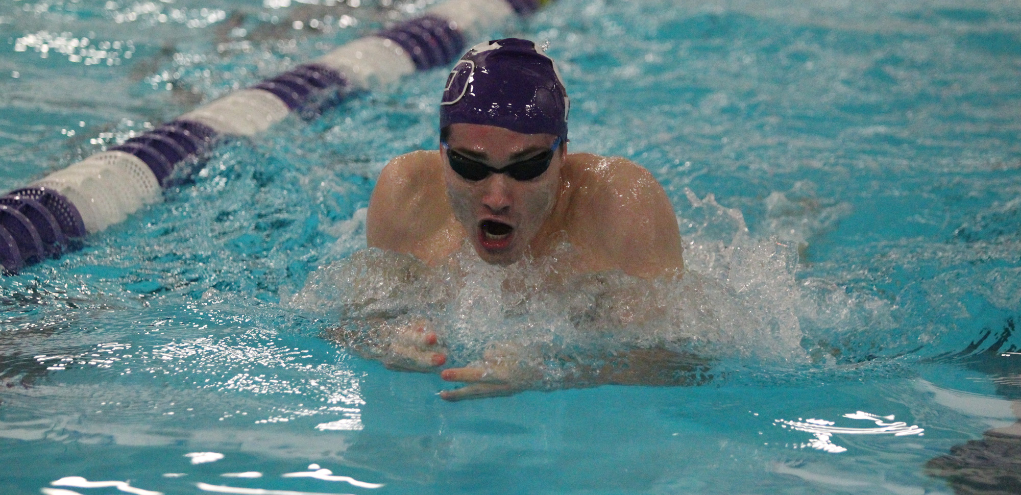 Sophomore Jack Donnelly won the 100-breaststroke on the second night of the Landmark Conference Championships in Maryland on Saturday.