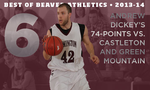 Best of Beaver Athletics in 2013-14: No. 6 - Andrew Dickey's 74-point weekend