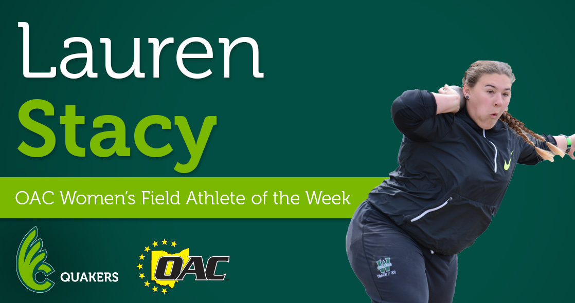 Stacy Named OAC Women's Field Athlete of the Week