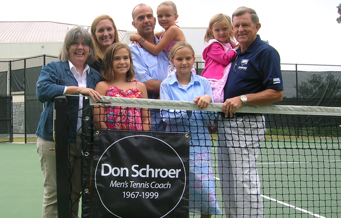 Court Dedicated To Former Coach Don Schroer At Emory Tennis Facility