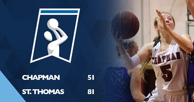 Chapman Women's Basketball Falls to St. Thomas in NCAA First Round