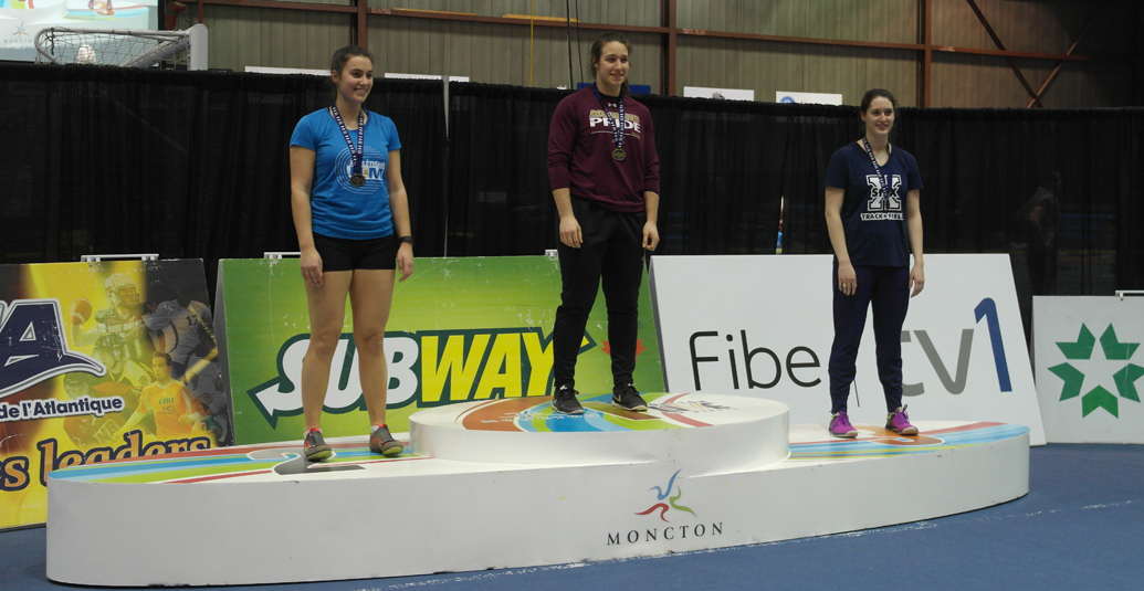 Mounties Hockey's Jenn Bell wins Gold at AUS Track and Field Champs