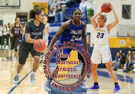 WOMEN'S HOOPS LANDS THREE ON GNAC ALL-CONFERENCE SQUAD; WEAVER NAMED DEFENSIVE PLAYER OF THE YEAR
