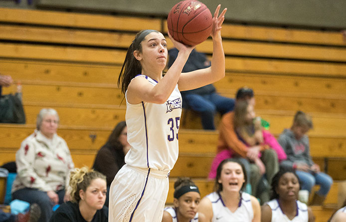 Women's Basketball Loses NE10 Contest to Undefeated No. 3 Bentley