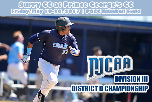 Prince George's Baseball Welcomes Surry For Best-Of-Three Series For NJCAA Division III District D Championship And Trip To World Series