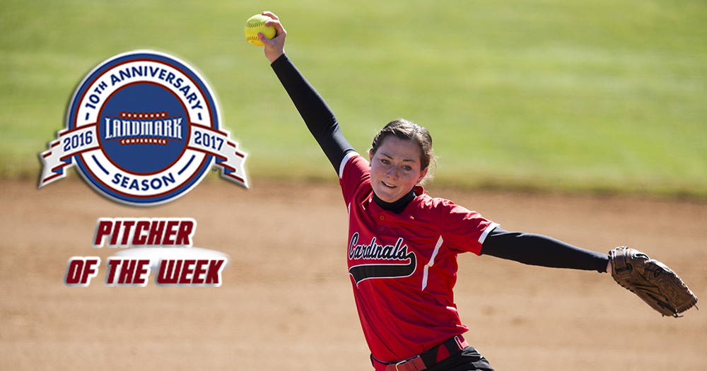 Lynch Honored as the Landmark Softball Pitcher of the Week