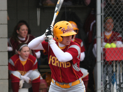 Allison Webber and the Bulldogs were held to four hits in game-one 4-2 loss to Tiffin.  (Photo by Eric Carlson)