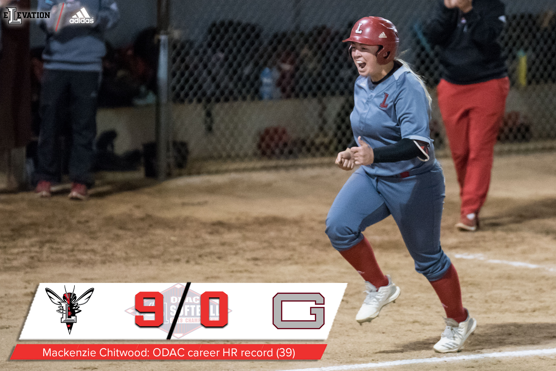 Mackenzie Chitwood rounds the bases after a walkoff home run