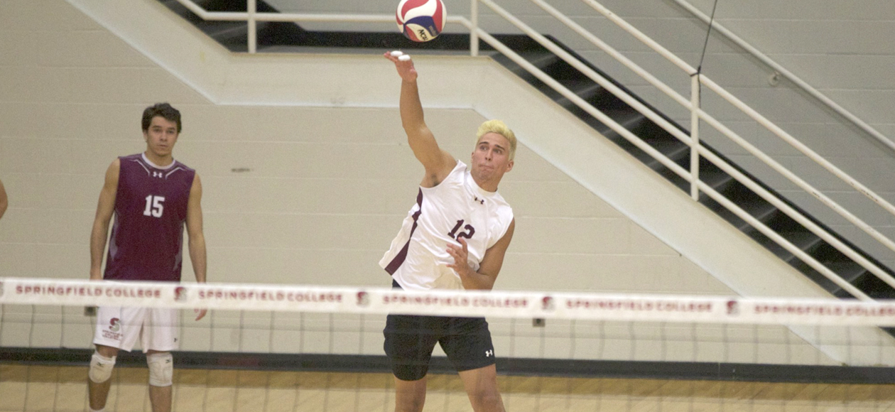 Top-Ranked Men's Volleyball Blanks Rivier In Straight Sets